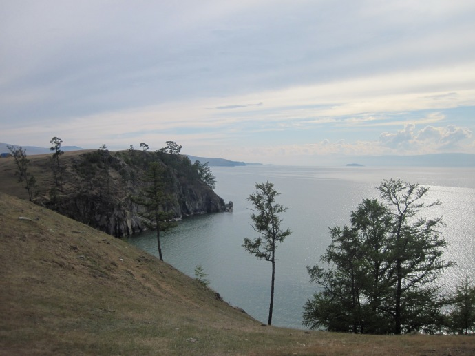 The shore of Lake Baikal