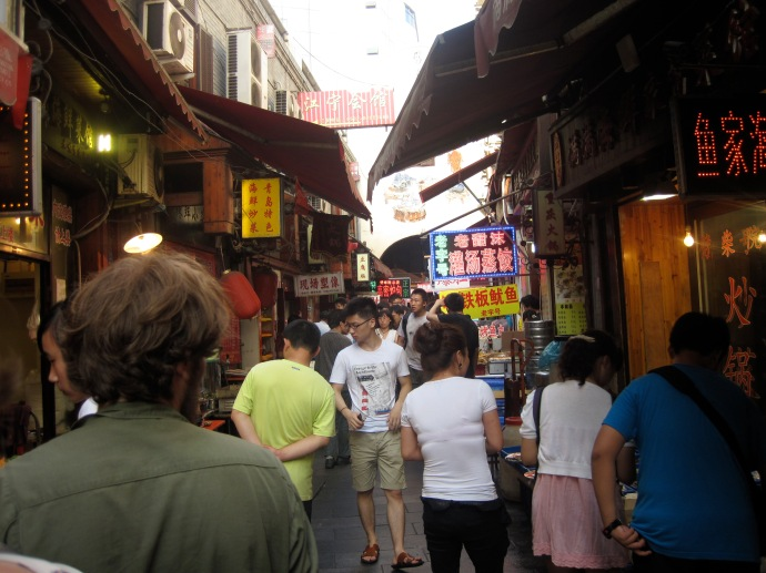 Seafood market.  Qingdao, China.